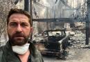 Gerard Butler mostra casa destruída na Califórnia; incêndio matou 31 pessoas